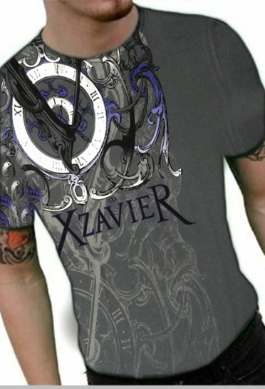 "Xzavier ""Only Time Will Tell"" T-Shirt (Charcoal)<!-- Click to Enlarge-->"