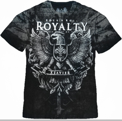 "Xzavier ""Rock & Roll Royalty"" T-Shirt (Black)<!-- Click to Enlarge-->"
