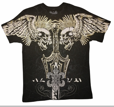 Xzavier Screaming Skulls Mens T-shirt<!-- Click to Enlarge-->