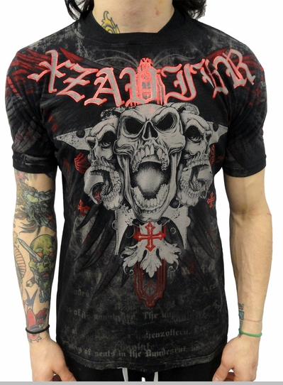 "Xzavier ""Skull and Cross"" T-shirt (Black)<!-- Click to Enlarge-->"