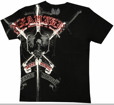 "Xzavier ""Strength & Courage"" Men's T-Shirt (Black)<!-- Click to Enlarge-->"