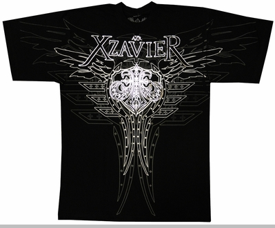 "Xzavier ""The Pilot"" T-Shirt (Black)<!-- Click to Enlarge-->"