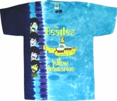 The Beatles Tshirt - Yellow Submarine Tie Dye T-Shirt