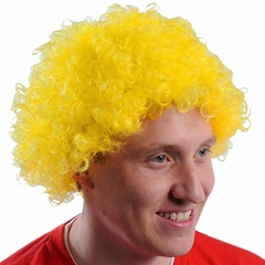 Yellow Team Spirit Afro Wig