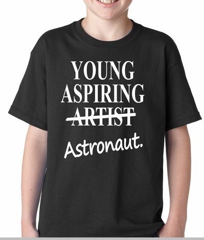 Young Aspiring Astronaut (Artist Crossed Out) Kids T-shirt<!-- Click to Enlarge-->