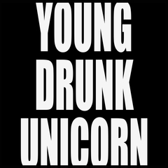 Young Drunk Unicorn Mens T-shirt