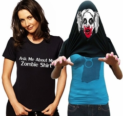 Halloween Costume T-Shirt - Ask Me About My Zombie Shirt Girls T-Shirt