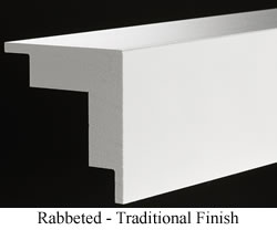 Rabbeted Cornerboard with Traditional Finish