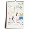 2018 Snow & Graham Wall Calendar