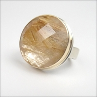 Faceted Round Rutilated Quartz