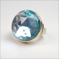 Rose Cut Sky Blue Topaz