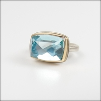 Small Rectangular Sky Blue Topaz