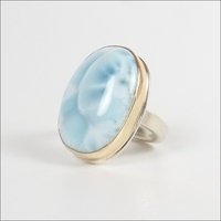 Smooth Oval Larimar
