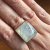 Smooth Rectangular Rainbow Moonstone