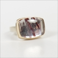Smooth Rectangular Red Rutilated Quartz