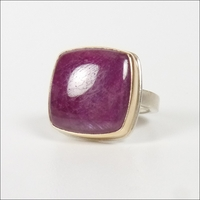 Smooth Square Indian Ruby