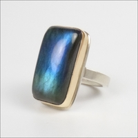 Smooth Vertical Labradorite