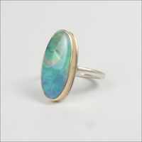 Smooth Vertical Oval Opal