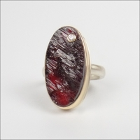 Surface Cut Garnet with Diamond