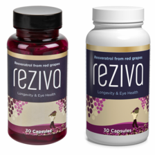 BUY 1, GET 1 FREE Reziva® Resveratrol Duo Sale - Concentrated extract from French red wine grapes - 30 days supply each bottle