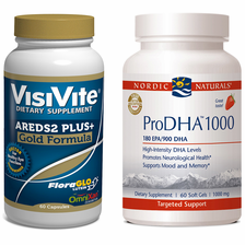 VisiVite® AREDS 2 Gold and Nordic Naturals® ProDHA-1000 Bundle - 1 month supply
