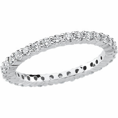 1 ct tw Round Diamond Eternity Platinum Band. Size 8 1/2.