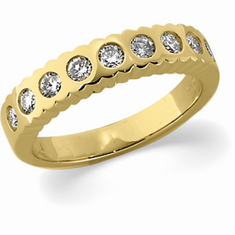 14K Diamond Anniversary Band