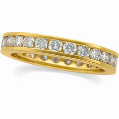 14k Gold 1 1/4 CT Diamond Eternity Anniversary  Band