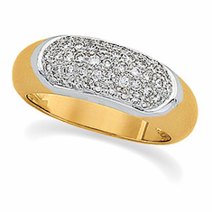 14k Gold 1/2ct Diamond Anniversary Ring