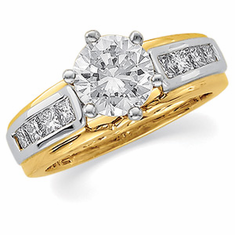 14k Gold  1/2cttw Dimaond Bridal Ring Enhancer