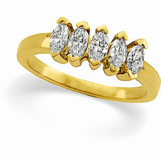 14k Gold 3/4CT Diamond Anniversary Band