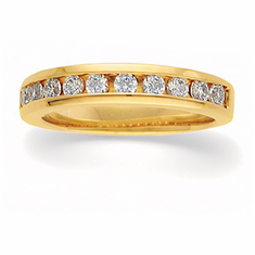 14k Gold 3/8 CT Diamond Anniversary Band