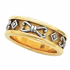 14k Gold 6.5mm Etruscan Anniversary Band