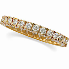 14K Gold 9/10cttw Diamond Eternity Anniversary Band
