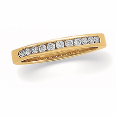 14k Gold Accented 1/5 CT Diamond Anniversary Band