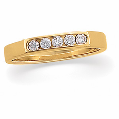 14k Gold Accented 1/6 CT Diamond Anniversary Band