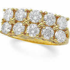 14K Gold  Accented 2 CT Diamond Anniversary Band