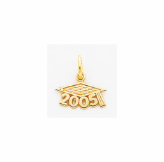 14k Gold and Sterling Silver Graduation Charms