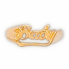 14k Gold Baby Name Ring