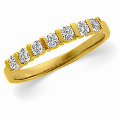 14k Gold Bar Channel Diamond  Anniversary Band