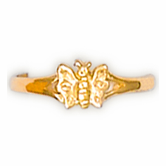 14k Gold Child's Butterfly Ring