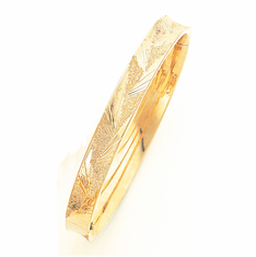 14k GOld Concave Bangle, 5/16
