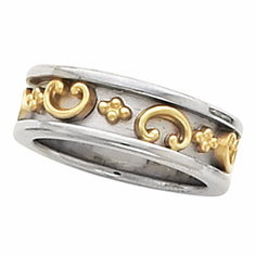 14k Gold Etruscan Anniversary Band