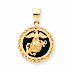 14k Gold Military Charms