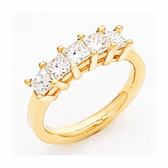 14k Gold Princess Cut Diamond Anniversary Band