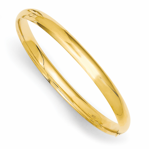 14K POLISHED BABY BANGLE