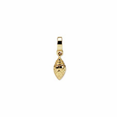 14k Reflections Ash Dangle Bead