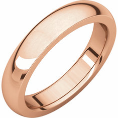14K Rose 4mm Heavy Comfort Fit Band. Buy one, Get One Free
