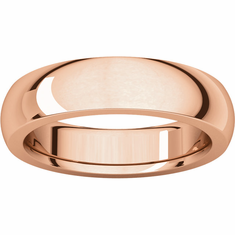 14K Rose Gold 5mm Heavy Comfort Fit Band- Buy one, Get one Free