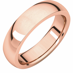 14K Rose Gold 6mm Heavy Comfort Fit Band. Buy one, Get one  Free